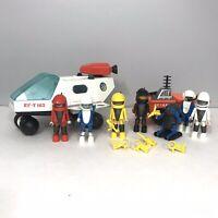 Vintage Playmobil Playmo Space 3524 Space Shuttle & 3558 Lunar Vehicle
