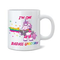 I'm One Badass Unicorn 11oz Ceramic Mug Cup - Funny Novelty Gift Tea Coffee