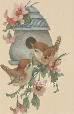 Cross Stitch Chart - Birds / Wrens / Birdbox - No 305.TSG37