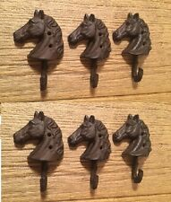 Cast Iron Horse Head Single Wall Hooks (Case of Six) DIY Craft Supply 0170-01677
