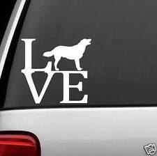 B1091 Labrador Retriever Dog Love Decal Sticker Golden Chocolate Puppy Collar