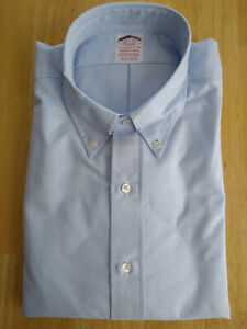NWOT Brooks Brothers Blue Supima Button Down 15.5-35 Traditional MSRP $140