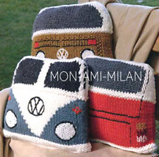 VW CAMPER VAN CUSHIONS Knitting Pattern To Make SPLIT SCREEN & BAY WINDOW Retro