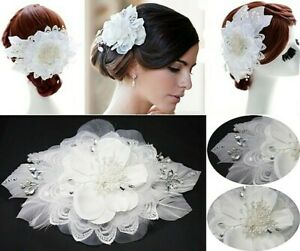 Bride Fascinator Ivory White Womens Floral Headpiece