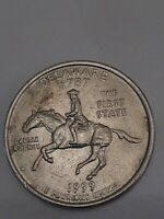 1999 P Delaware State Quarter, Spitting Horse Mint Error.GREAT CONDITION