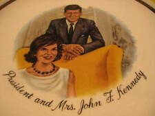 "COLLECTOR PLATE - PRESIDENT AND MRS JOHN F. KENNEDY - 9 1/4"" DIAMENTER"