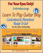 Learn Guitar Blog Self Updating Website - Clickbank Amazon Adsense Pages & More