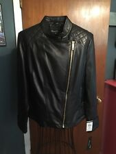 NWT KENNETH COLE LEATHER JACKET WOMEN'S XL