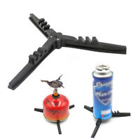 Outdoor Camping Gas Tank Stove Base Holder Canister Tripod Bottle Shelf Stand