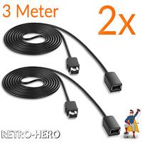 2x Verlängerungskabel für Super Nintendo SNES Classic Mini Controller Kabel 3m