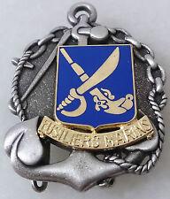 insigne de béret FUSILIERS MARINS TDM Troupes de Marine FRENCH NAVY - DRAGO