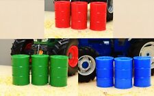 BRUSHWOOD TOYS RED/GREEN/BLUE BARRELS (x9) 1:32 SCALE FARM DIORAMA  **NEW**
