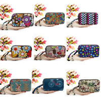 Large Capacity Clutch Purse Girls Handbags Women Floral Wallet 3 - Layer Zipper