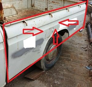 DATSUN NISSAN 520 521 PICKUP 1965 72 BED SIDE PANELS WITH TAIL BODY UPPER CORNER