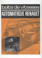 N°11886 / prospectus boite de vitesse automatique RENAULT Dauphine et R8