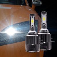 2Pcs H15 LED Headlight 110W 26000LM Bulbs 6000K COB Chips DRL For Car Universal