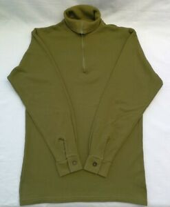 Base Layer Khaki Polo Neck Extreme Cold Weather Loop Knit Size