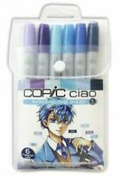 Coade Copic chao 6 pieces set Character select 2 cool color 4560367075395