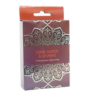 Dark Amber & Jasmine  Incense Cones Home Fragrances Aroma Scent Relaxing Holder
