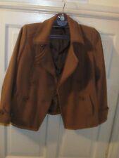 Debenhams Camel Wool Womens Winter Coat Office Ladies Business Jacket s 12