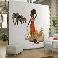 African Tribal Jungle Story Decal Art Mural Wall Sticker Home Room DIY Decor