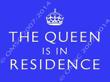 The Queen is in Residence Metal Sign, British Royalty, London, Novelty Den Decor