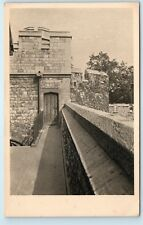 Tower of London England UK Bloody Tower Raleigh's Walk Vintage Postcard A91