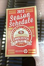 """2013 SF 49ers Collectible Pocket Schedule """"Farewell Season"""" at Candlestick"""