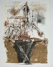 Johnny FRIEDLAENDER [Composition]. 1973. LITHOGRAPHIE EN COULEURS XXème