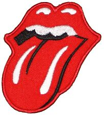 Embroidered Application Rolling Stone Tongue Lips Iron On Sew On Patch New MICK