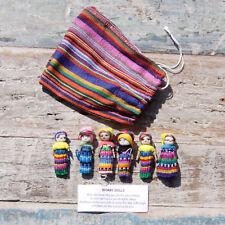 Worry Dolls from Guatemala 6 MEDIUM dolls in bag