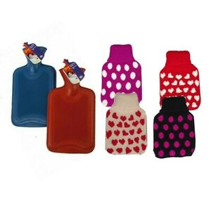Children's Hot Water Bottle OR Soft Cuddly Cover 500ml Size Select From Options