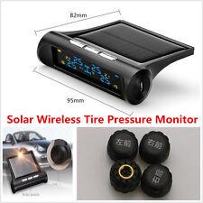 Car Solar Wireless TPMS Tire Pressure LCD Monitoring System + 4 External Sensors