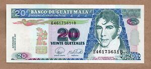 GUATEMALA - 20 QUETZALES - 24.1.2007 - P112b - UNCIRCULATED