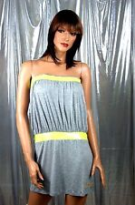 Dereon Sequins Embellished L. Heather Gray Knit Tube Mini Dress MSRP$49.00 sz L