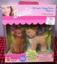 "1999 NIB ""BARBIE""~PET LOVIN`PUPPY TWINS~*AFGHANS*~BONES-DOG FOOD+BALL~67388~NRFB"