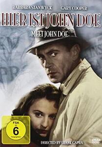 HIER IST JOHN DOE Gary Cooper, Barbara Stanwyck - Frank Capra DVD 1941 NEU