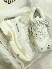Baleciga Triple S White Cream Damen Herren Schuhe Trainers Alle Cushion Shoes
