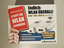 Original DEVOLO dLAN 1200 WiFi AC WLAN Starter Kit Powerline Gigabit Adapter NEU