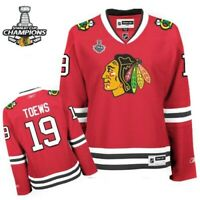 Women Chicago Blackhawks #19 Jonathan Toews Jersey W/2015 Championship Patch