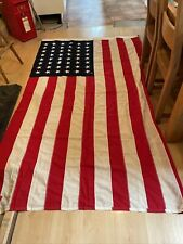 More details for original wwii american us flag 48 star cotton stitched stripes and stars 5x8ft