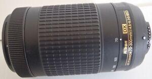 """Nikon AF-P DX NIKKOR 70-300mm f/4.5-6.3G ED Lens for Nikon """"NO ACCEPT RETURN"""""""