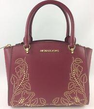 b125660d4eca New Authentic Michael Kors Ellis Small Convertible Satchel Handbag Purse Red