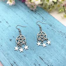 1 pair Pentagram Star Earrings Celestial Earrings Pagan Earrings Wiccan Earrings