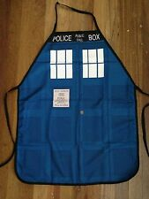 Dr Who Tardis Blue Police Box Kitchen BBQ Chef Apron Fun Party Novelty Costume
