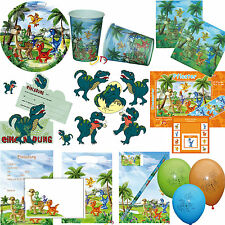 *Dinosaurier* Teller Becher Tüten Servietten Einladung - Dino Kinder Geburtstag