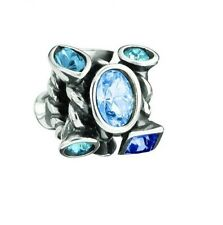 JC-2B AUTHENTIC CHAMILIA STERLING SILVER MARQUIS BLUE CZ BEAD NEW