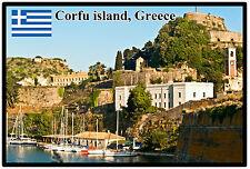 CORFU ISLAND, GREECE - SOUVENIR  FRIDGE MAGNET - BRAND NEW