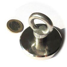 Super Magnete al Neodimio OTN-63 POTENZA 110 Kg CON OCCHIELLO IN ACCIAIO INOX!!!