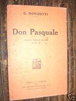 LIBRETTO Lirica I PURITANI V. BELLINI A. BARION 1933 L4